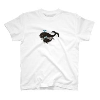 クジラの親子 T-shirts