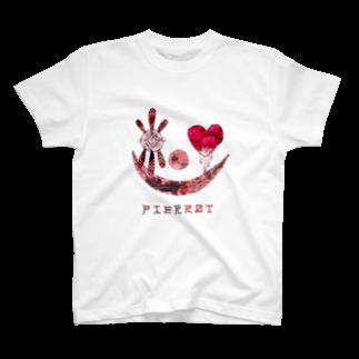 ゐろゐろ屋のPIERROT T-shirts
