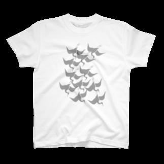 ツバメ堂の琳派風鶴 Tシャツ
