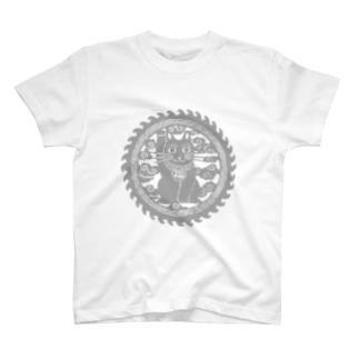 招き猫の円 Tシャツ