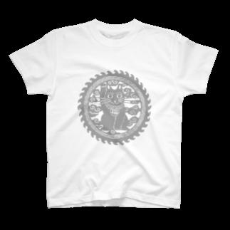 ツバメ堂の招き猫の円 T-shirts