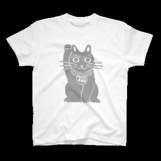 ツバメ堂のまねきねこ・大きいの Tシャツ