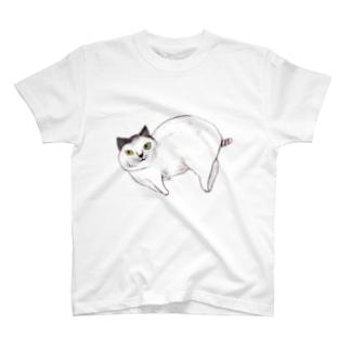 上目ねこ T-shirts