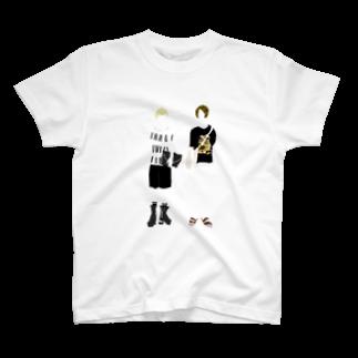 シブキ ナツのよく似た2人 T-shirts