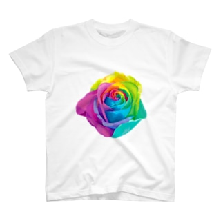 Rainbow rose(Single) T-shirts