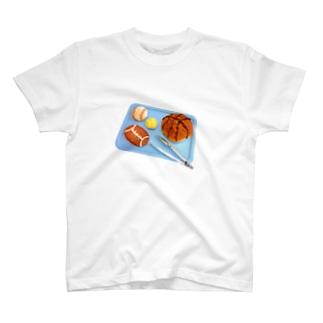 🏀⚾️スポーツパン🍞🏈🎾 T-shirts