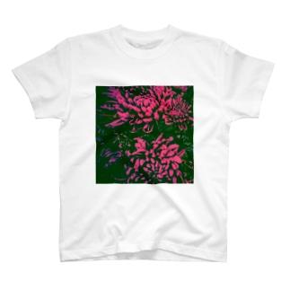 菊花ピンク色 T-shirts