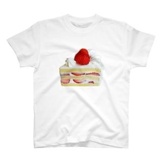 苺のショートケーキ T-shirts