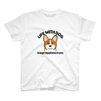 犬と共に(コーギー) T-shirts