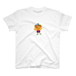 可愛い女の子ビザコちゃんのピース T-shirts