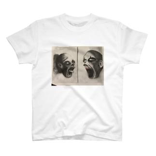 叫び合うピエロ T-shirts
