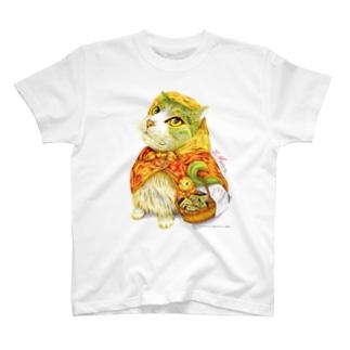 マッチ売りのにゃんこ T-shirts