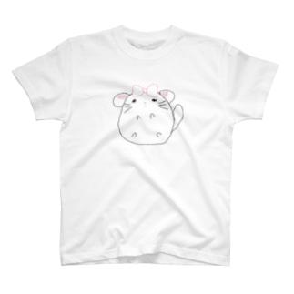 チンチラちゃん(白) T-shirts
