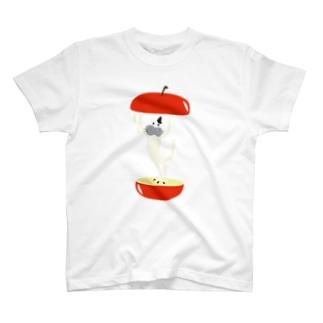 リンゴパカッとニャメロウ T-shirts