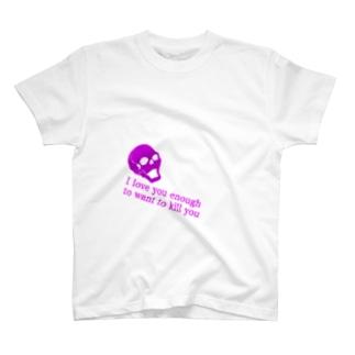 スカルと英字 T-shirts