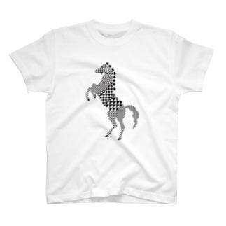 geometric horse T-shirts