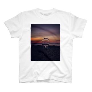 サンセットビーチ オレンジ T-shirts