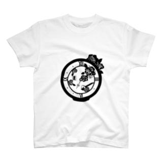 薔薇と時計 T-shirts