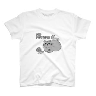 Shudow HouseのNO FUTURE NEKO T-Shirt