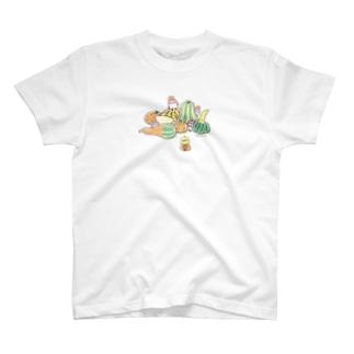 かぼちゃと ことり T-shirts