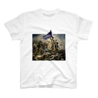 駿東郡長泉町民を導く自由の女神 T-shirts