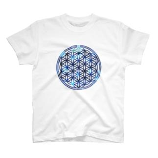 ブルーサファイア (大) T-shirts