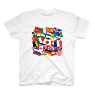 国旗 T-shirts