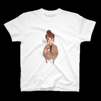 絃*itoのカフェでみた女の子 T-shirts