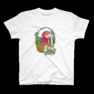 インコグッズ屋のコザクラインコとクローバー T-shirts