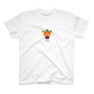 可愛い女のコビザコちゃんのバイバイグッズ T-shirts
