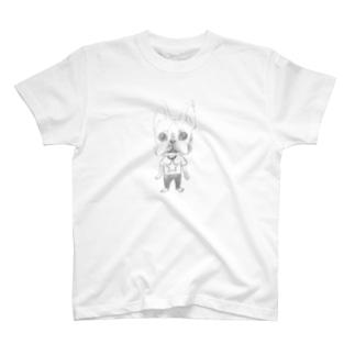 生真面目ボストンテリアくん T-shirts