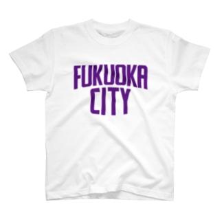 福岡シティTシャツ(パープルロゴ) T-shirts