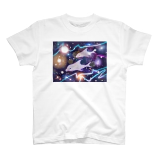 宇宙✖️イルカ(白イルカ) T-shirts