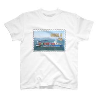 大韓民国:コンテナ船★白地の製品だけご利用ください!! Korea: Container ship/ Busan★Recommend for white base products only !! T-shirts
