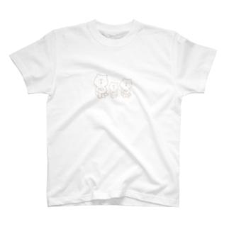 すやすやくまおやこ T-shirts