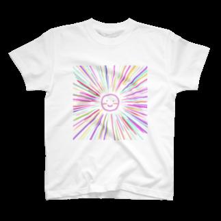わか&なるのカラフルサニー ピンク T-shirts