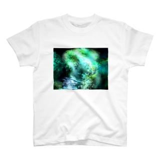 緑の大自然 T-shirts
