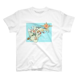 サメとびんじょうくんとれらたん T-shirts