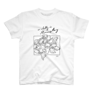 a chubby is running away T-shirts