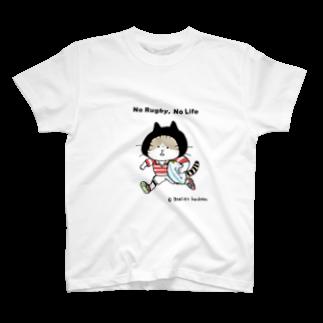 ほっかむねこ屋のラグビーねこ T-shirts