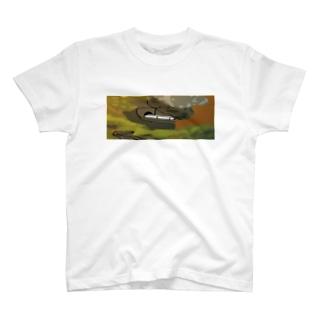 鳴子峡から覗く鉄道 T-shirts
