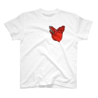 "Hand sign""Heart"" T-shirts"