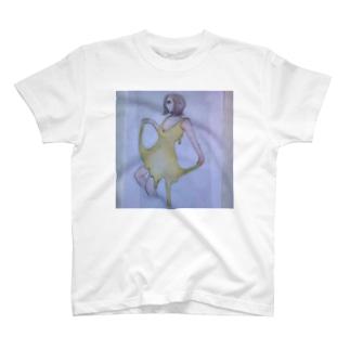 ドレスがチーズの女性 T-shirts