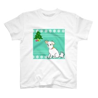 クリスマスわんこさん  T-shirts