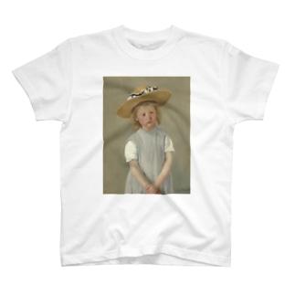 メアリー・カサット作「麦わら帽子をかぶった少女」 T-shirts