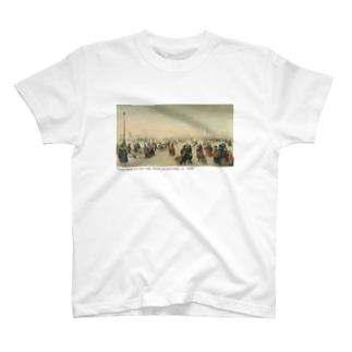 IJsvermaak bij een stad T-shirts