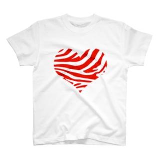 シマウマハート-赤 T-shirts