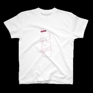萩原商店街のミロのヴィーナス(白) T-shirts