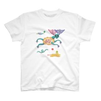 「跳べ!どうぶつたち」 T-shirts