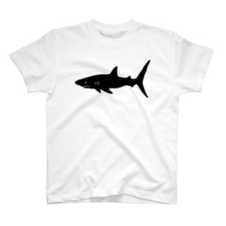 らくがきシリーズ‐サメシルエット T-shirts